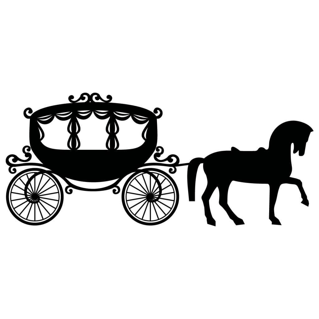 For Cinderella Carriage Silhouette Cliparts in 2019.