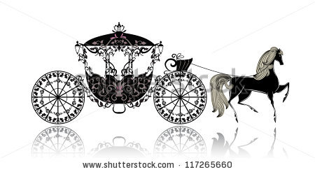 Wedding Horse And Carriage Stock Images, Royalty.