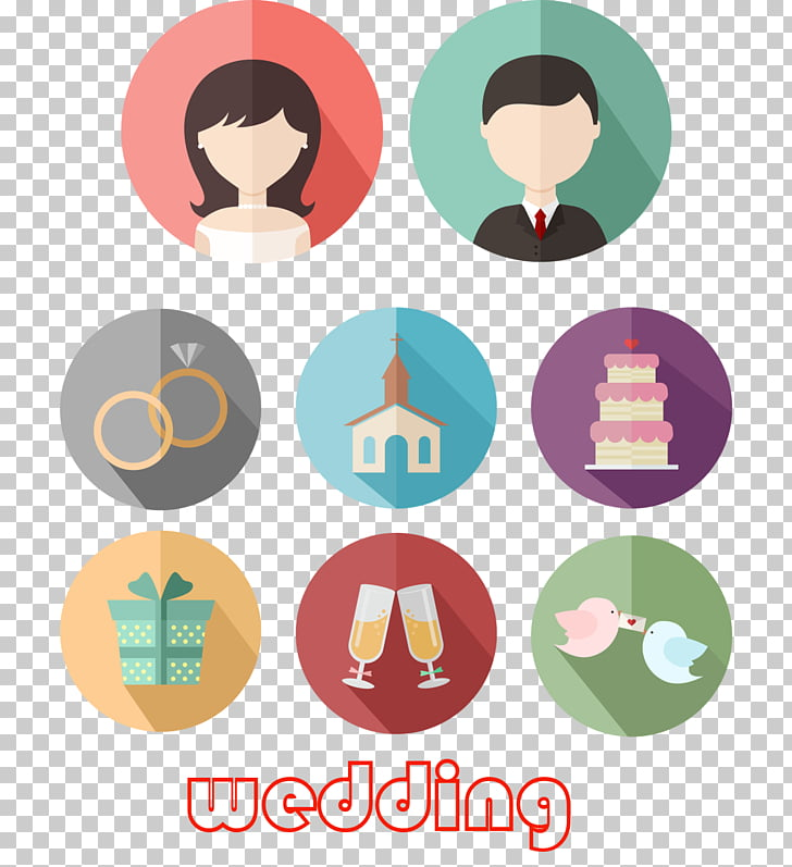 Bridegroom Icon, 8 Round wedding icon PNG clipart.