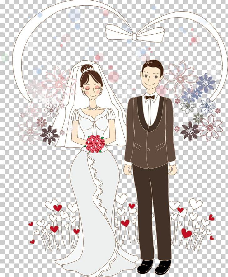 Cartoon Bride Drawing Wedding Illustration PNG, Clipart.