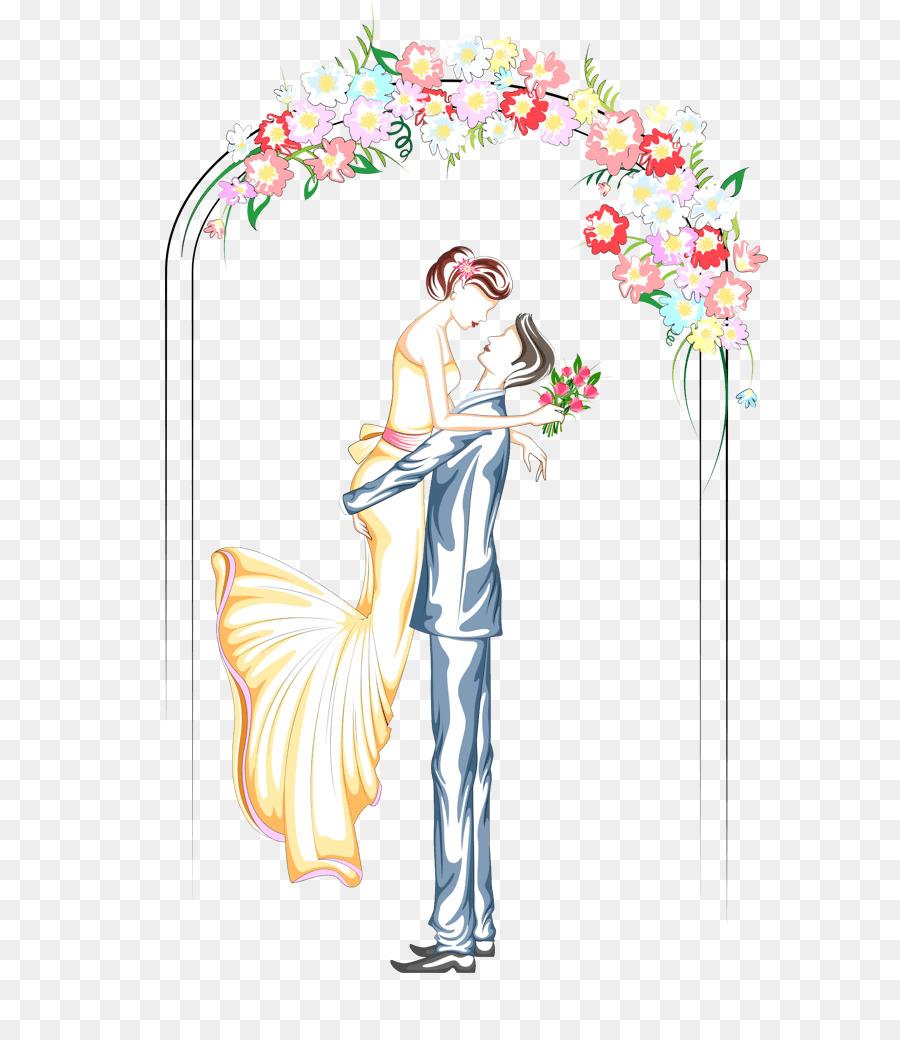 Wedding Illustration png download.