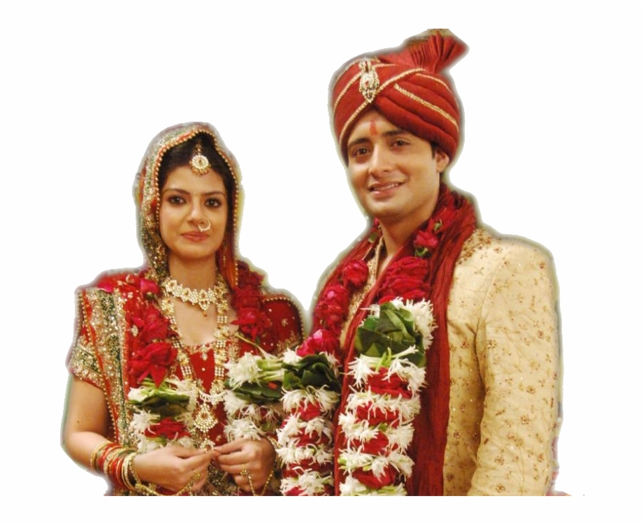 Indian Wedding Couple Png.