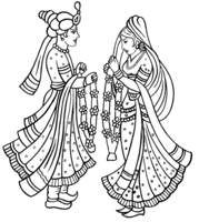 Indian Wedding Logo Clipart.