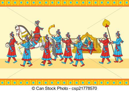 Indian Wedding Clipart Vector.