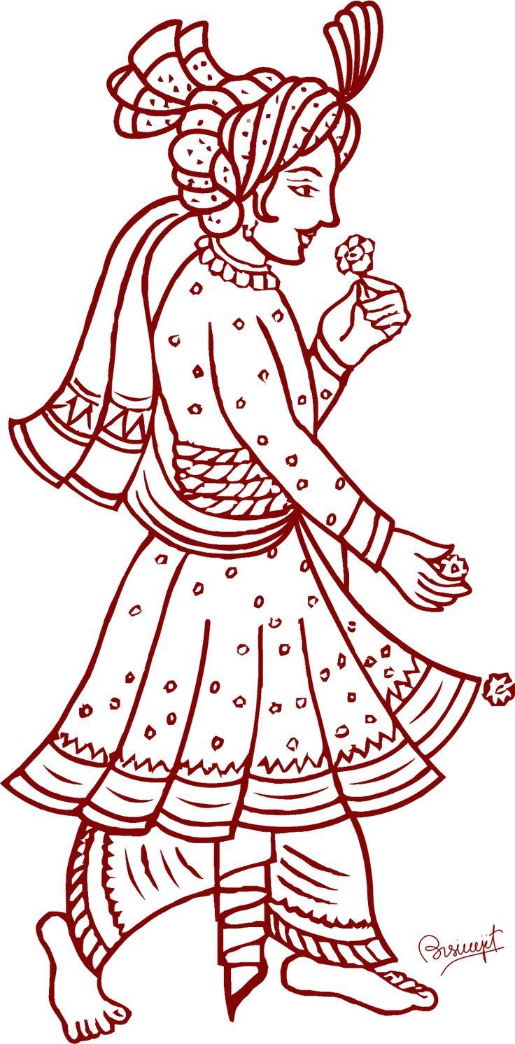 Indian Wedding Varmala Clipart.