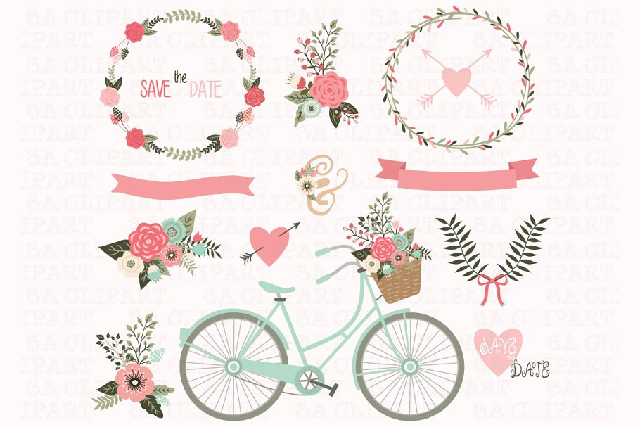 Wedding Invitation Clipart.