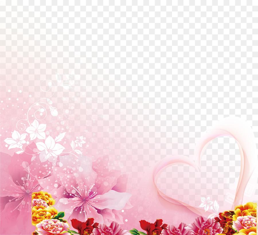 Floral Wedding Invitation Background.