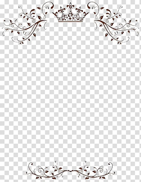 Wedding Invitation Border transparent background PNG clipart.
