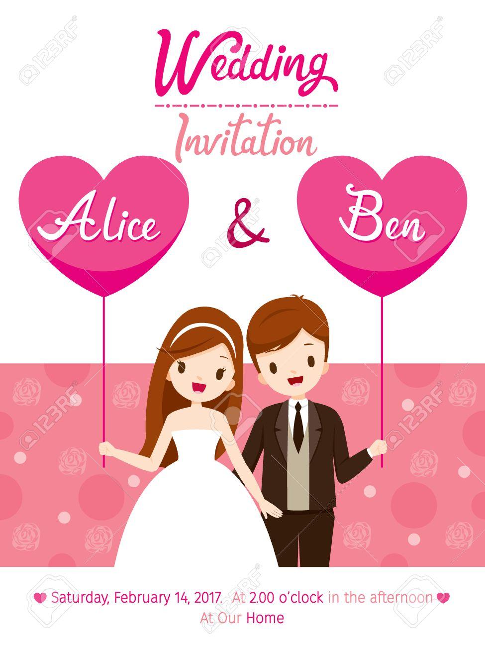 Wedding Invitation Card Clipart.