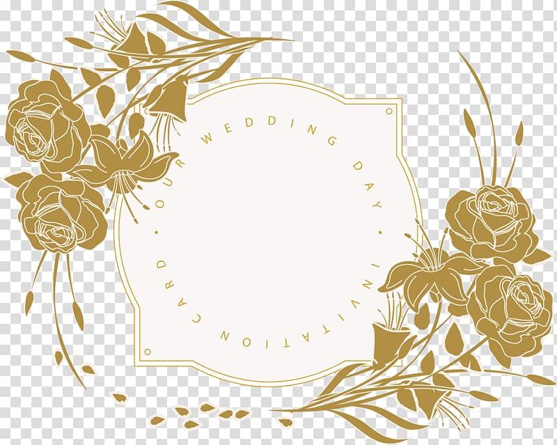 Wedding invitation Flower Floral design, Wedding Invitation.