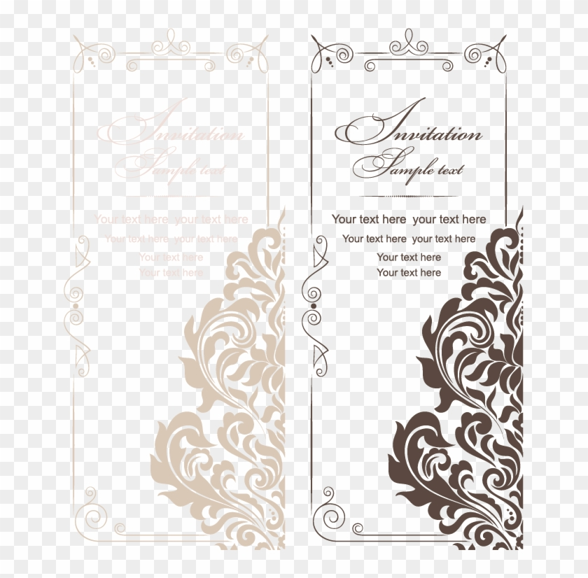 And Style Vintage Wedding Invitations American Vector.
