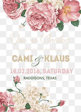 Wedding Invitation Card PNG Images.