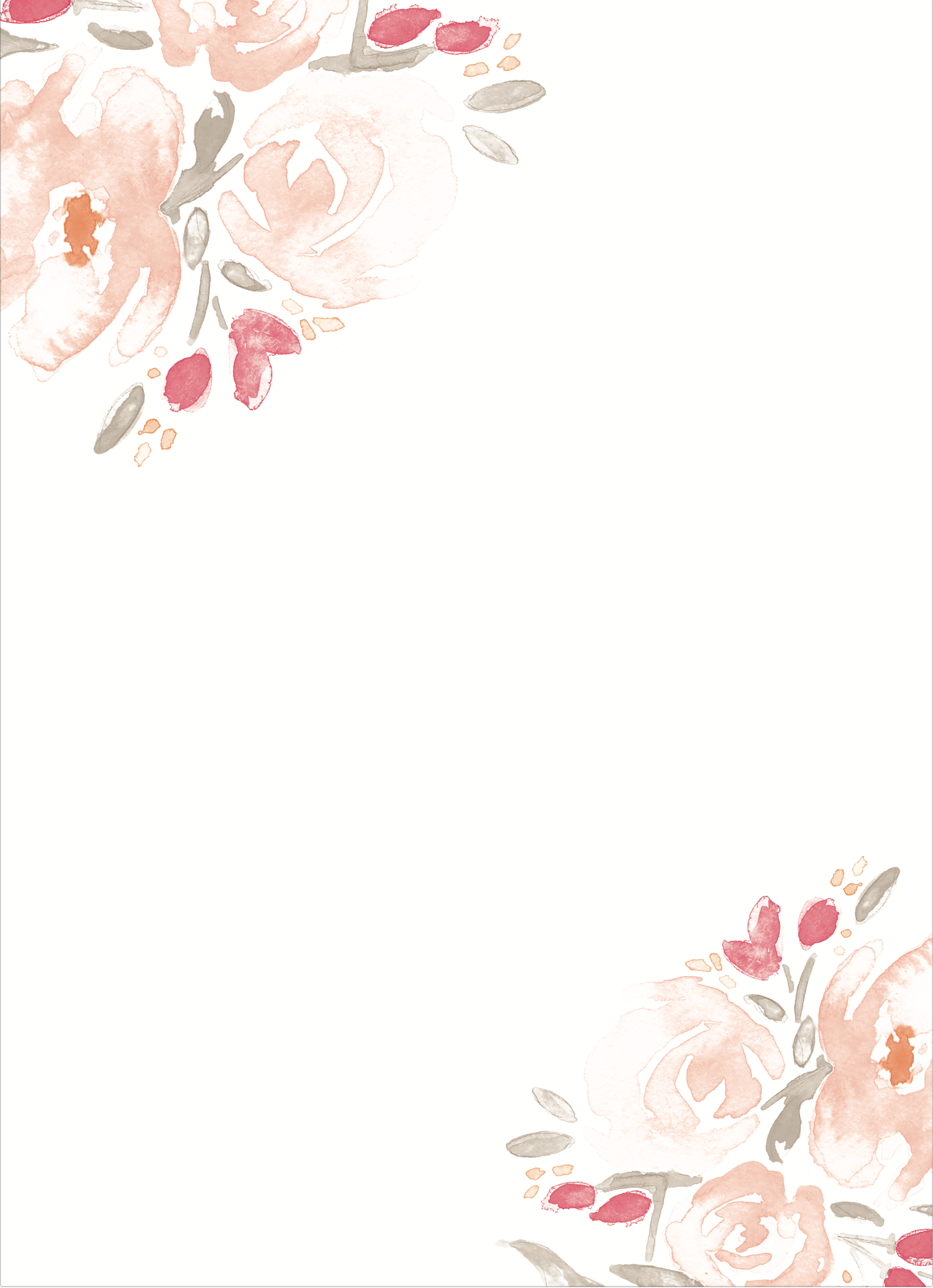 Watercolor Bouquet Wedding Invitations.