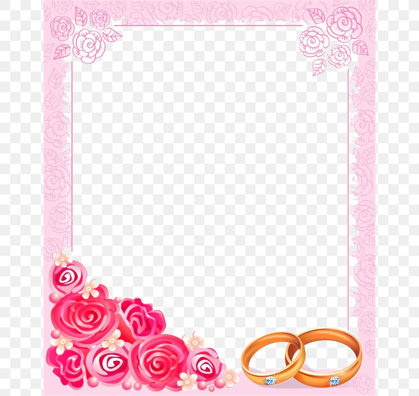 Wedding Invitation Picture Frame Clip Art, PNG, 650x774px.