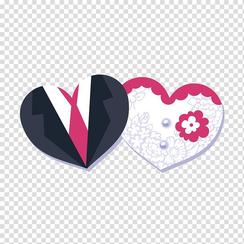 Wedding invitation Template, Heart.