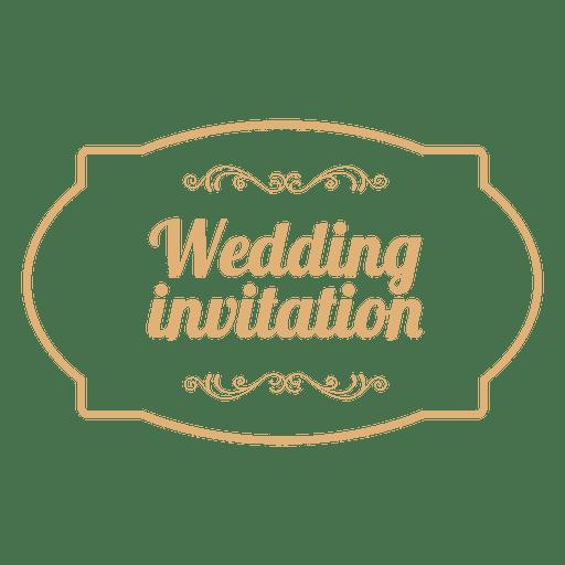 Wedding invitation badge 3.