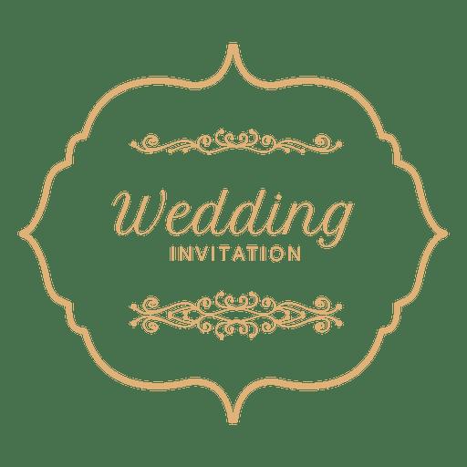 Wedding invitation label 3.