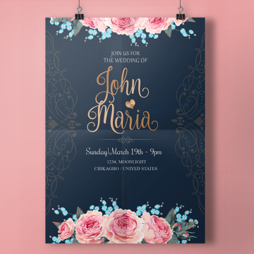 Wedding Invitation PNG Images.