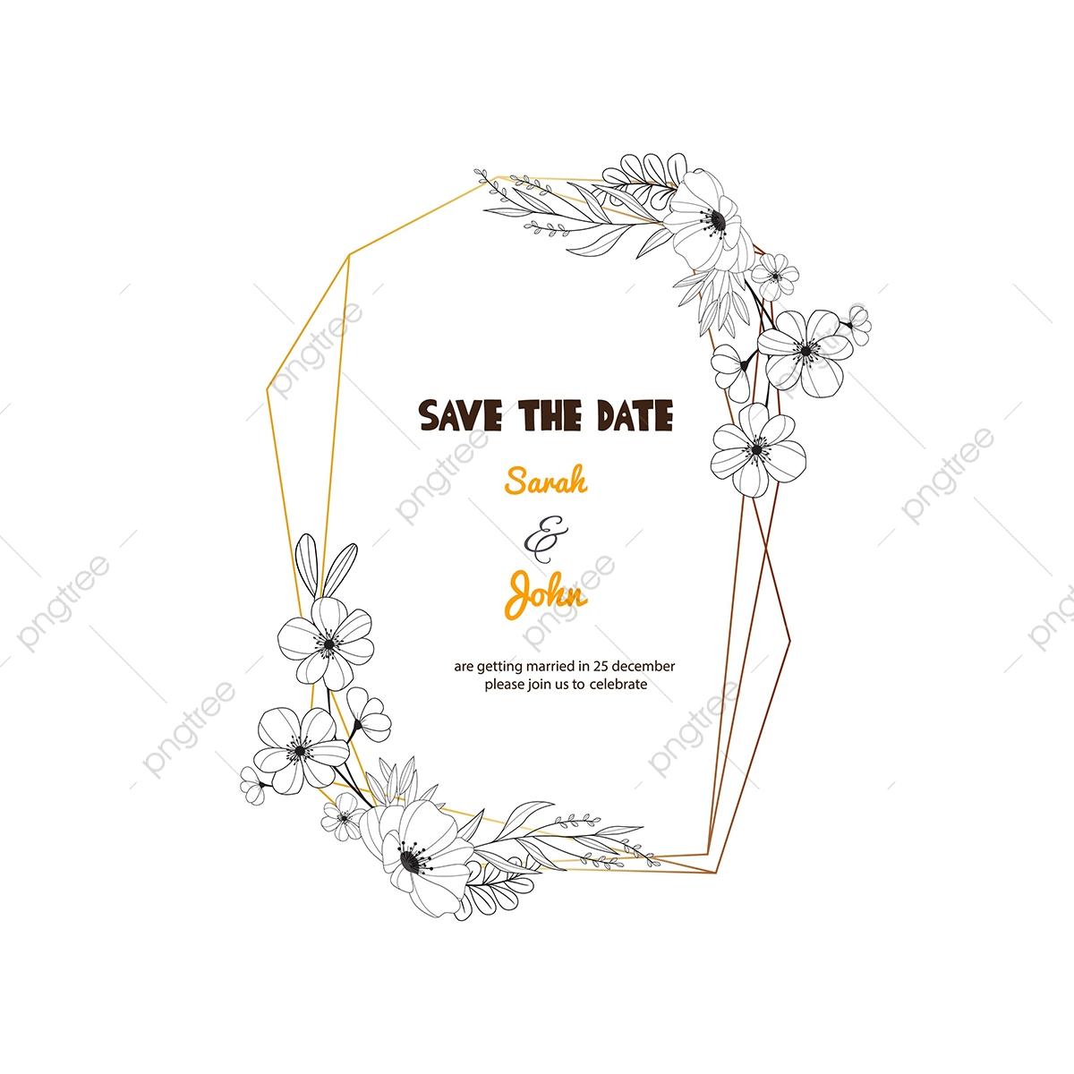 Geometric Wedding Invitation Frame, Frame, Wedding, Wedding.
