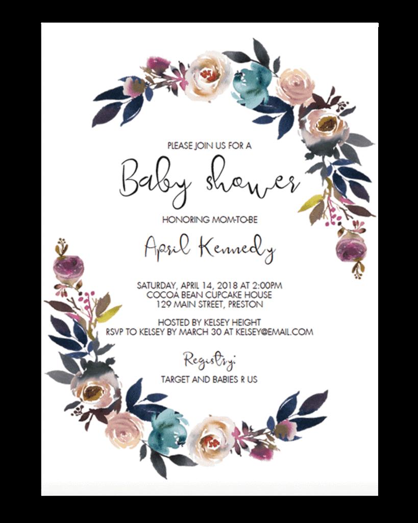Wedding invitation Baby shower Party Convite Child.