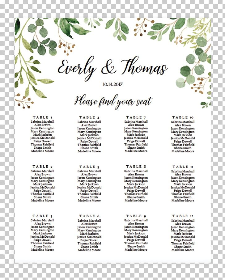 Wedding Invitation Seating Plan Template Table Microsoft.