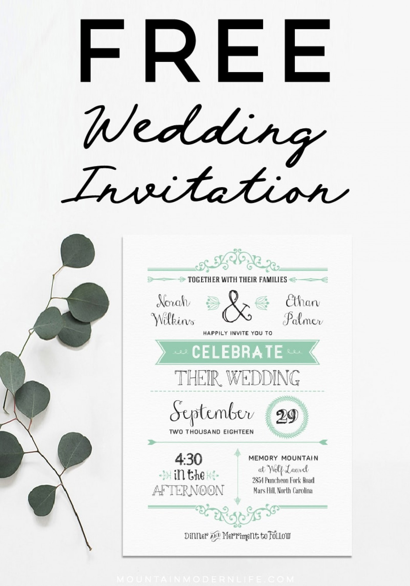 007 Free Downloadable Invitations Templates Diy Wedding.