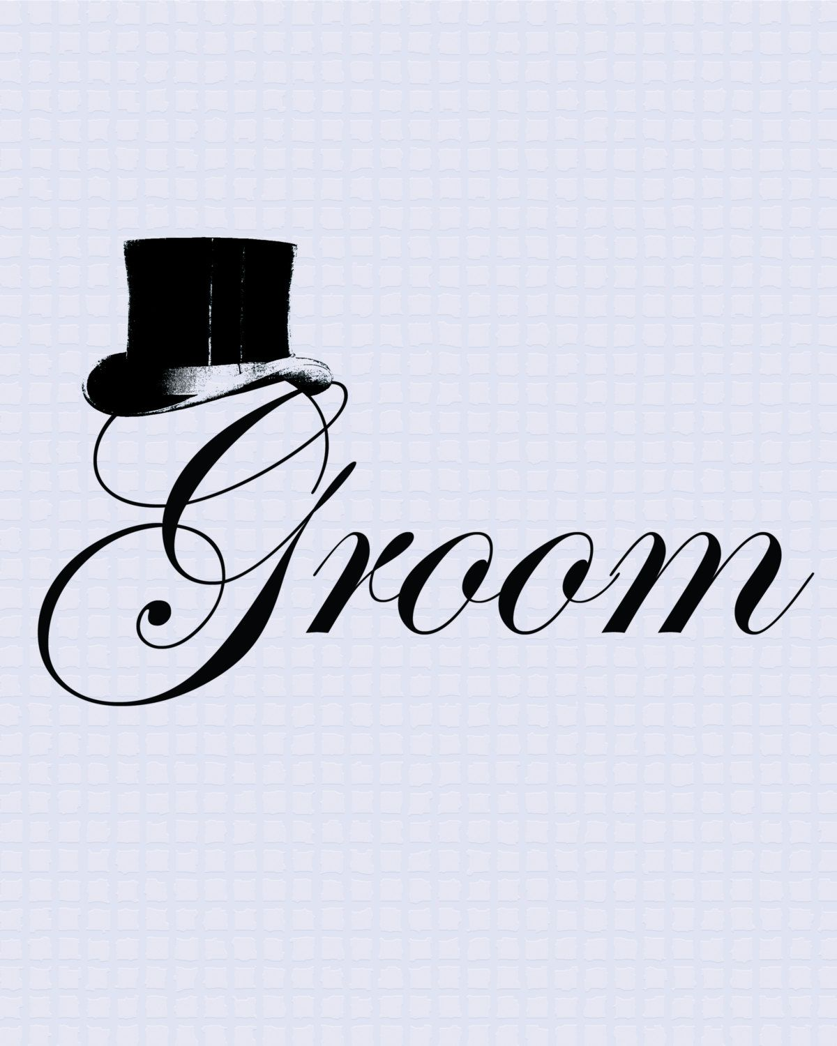 Groom printable ClipArt, Wedding label, Wedding sign.