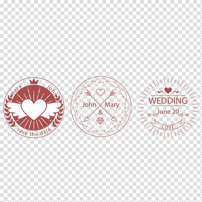 Wedding Logo Creativity Label, Love Wedding Label.