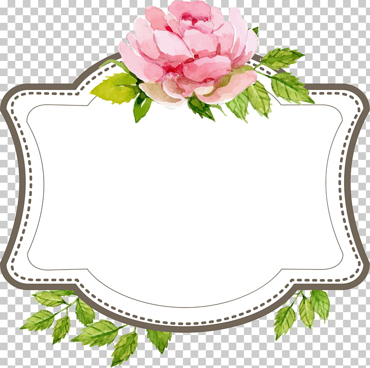 Wedding Engagement , Beautiful wedding text label border.