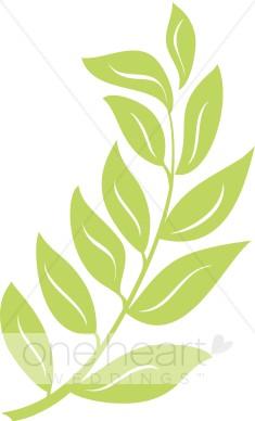 Green Branch Clipart.