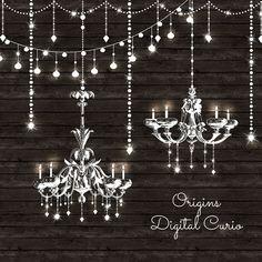 Wedding String Lights Clipart.