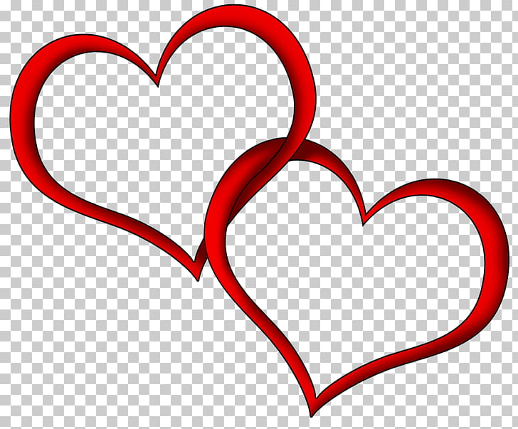 Heart , Wedding Heart s, two intersecting red hearts PNG.