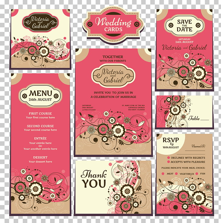 Menu Hotel Wedding reception, wedding menu PNG clipart.