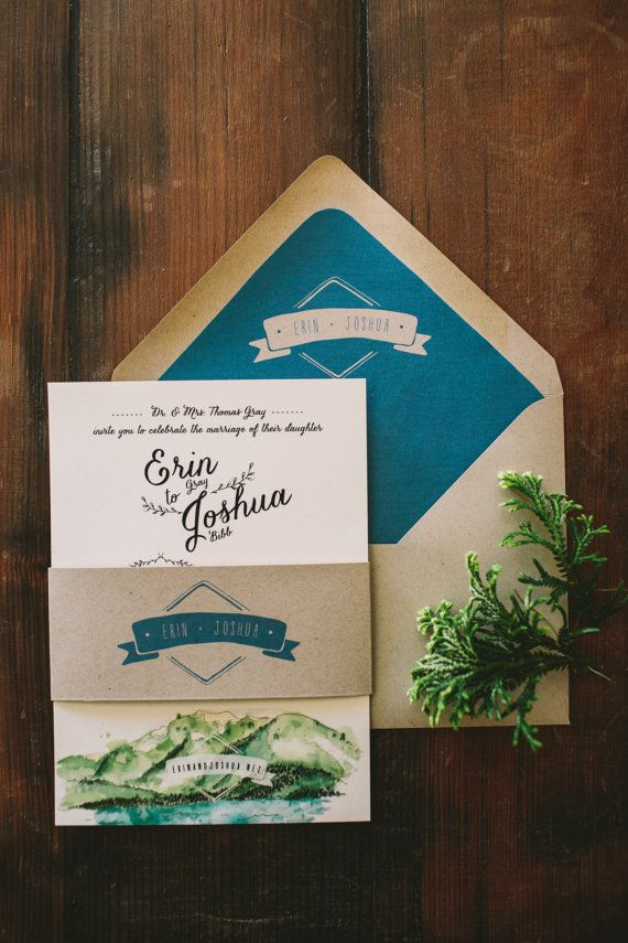 17 Best ideas about Mountain Wedding Invitations on Pinterest.