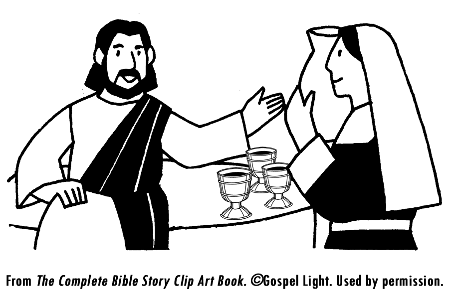 Free Jesus Turns Water Into Wine Coloring Pages, Download.