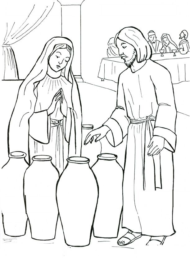 Coloring Pages Wedding At Cana.
