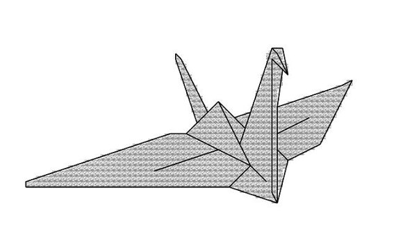 cross stitch pattern paper crane origami wedding by.