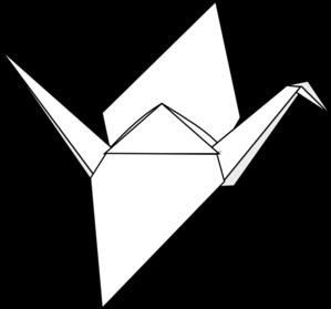 Origami Crane clip art.
