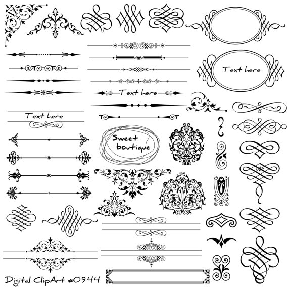 Decorative Page Divider Clipart.