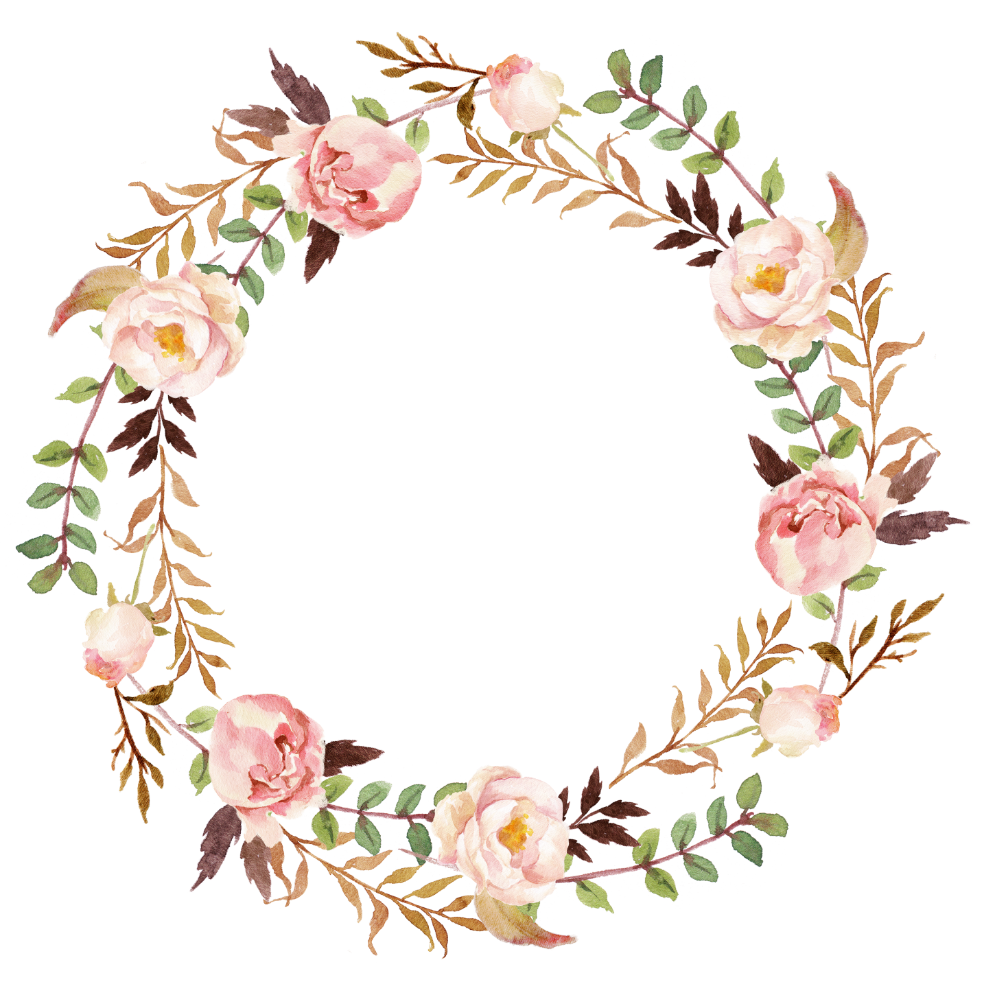 Wedding invitation Paper Wreath Clip art.