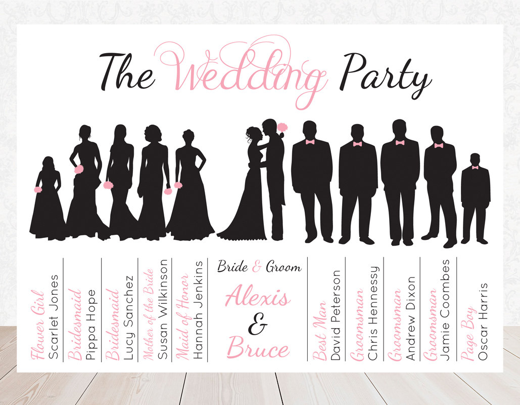 Bridal Party Clipart.