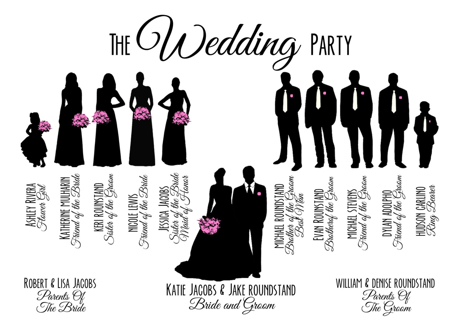 Wedding Party Silhouette Clip Art Free.