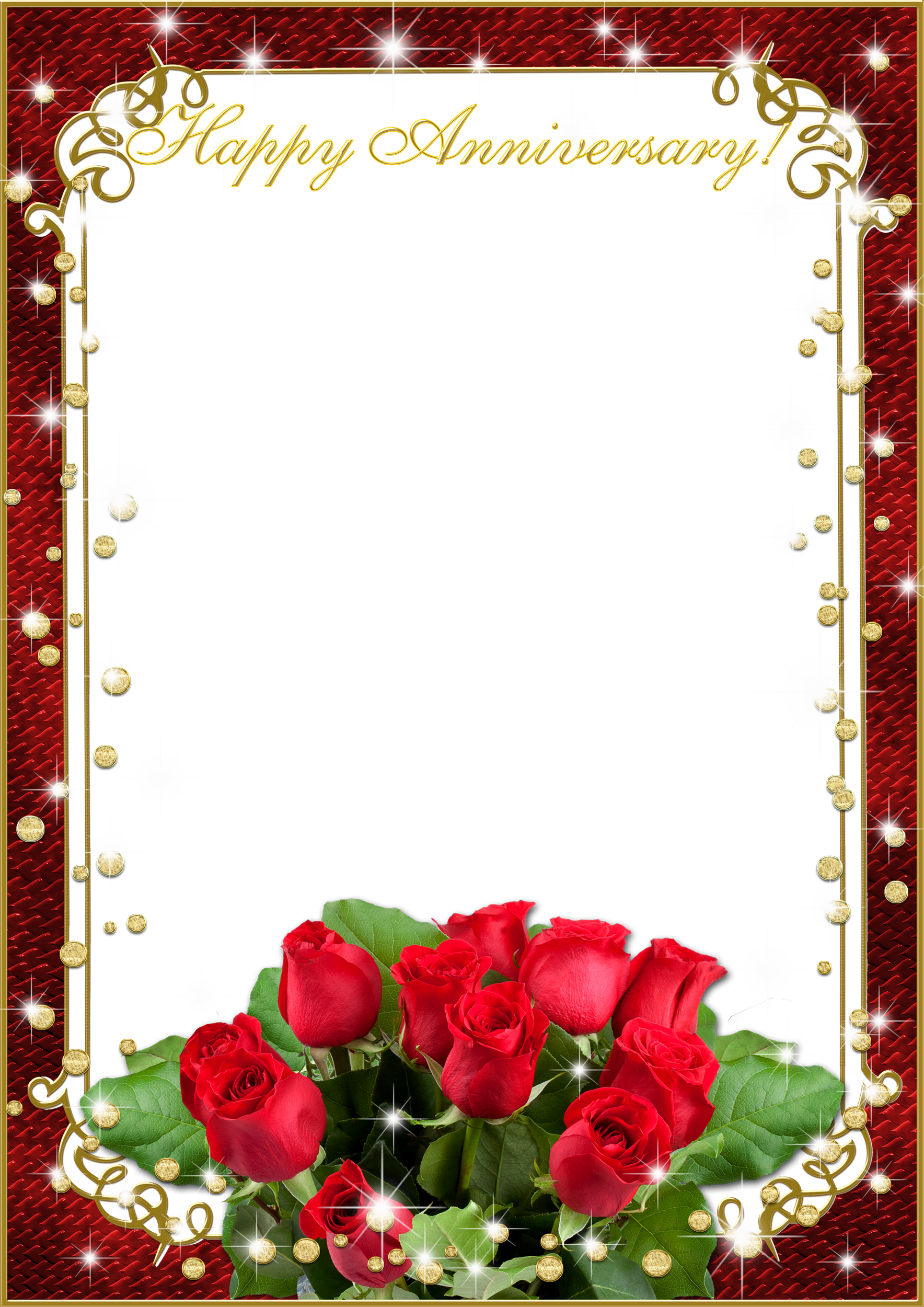 Wedding Frame Png With Flower Love.