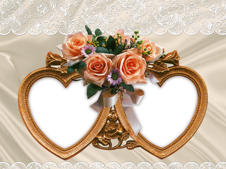 Free PSD Wedding Frames for Photoshop.