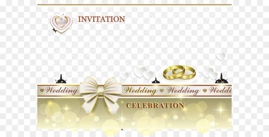 Wedding Invitation Design png download.