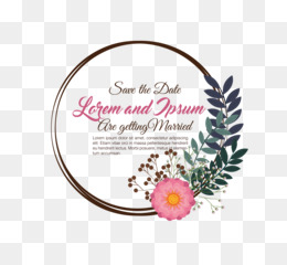 Wedding Invitation Templates PNG Images #61691.