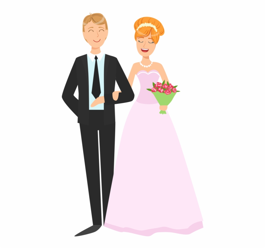 Wedding Couple Png Vector Image Transparent Background.