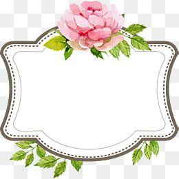 2019 的 Beautiful Wedding Text Border, Hand Painted Flowers, Marry.