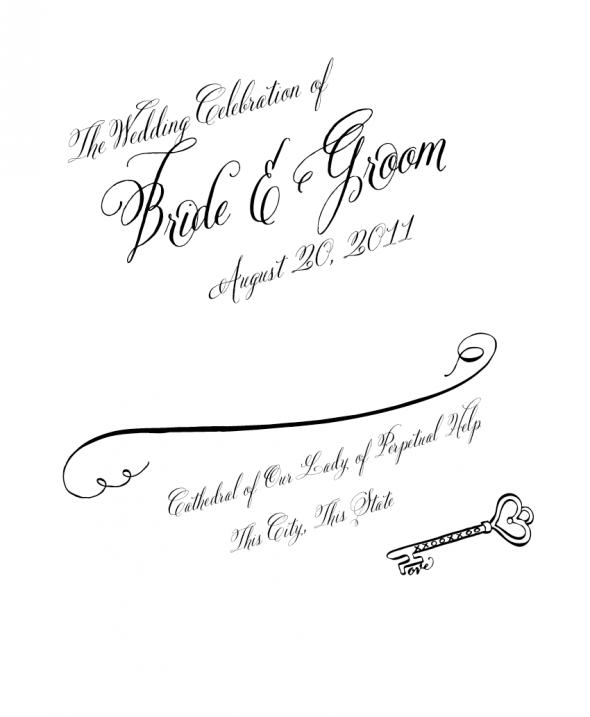 Wedding program clip art.