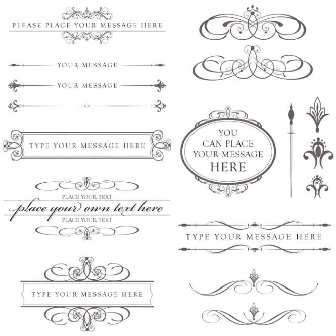 Wedding program clip art.